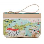 "Spartina 449 ""Greeting From"" Zip Wristlet - Great Lakes"